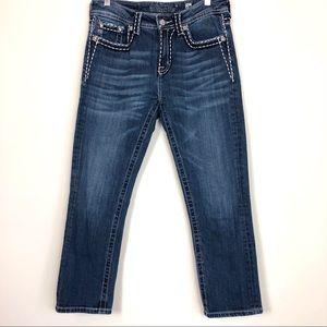 Miss Me Boyfriend Capri Jeans Size 26